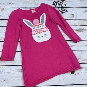 Gymboree 2t Dress Girls Pink Sweater Winter Bunny